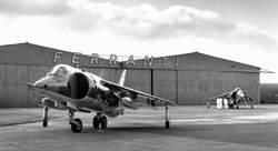 Harrier jump jet Edinburgh airport - Ferranti