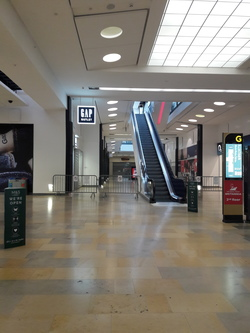Inside Ocean Terminal shopping centre during coronavirus pandemic