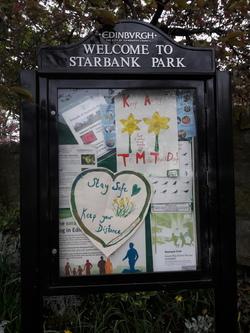 Starbank Park noticeboard