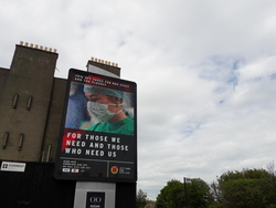 Advertising hoarding for reduced rate NHS worker taxi fares