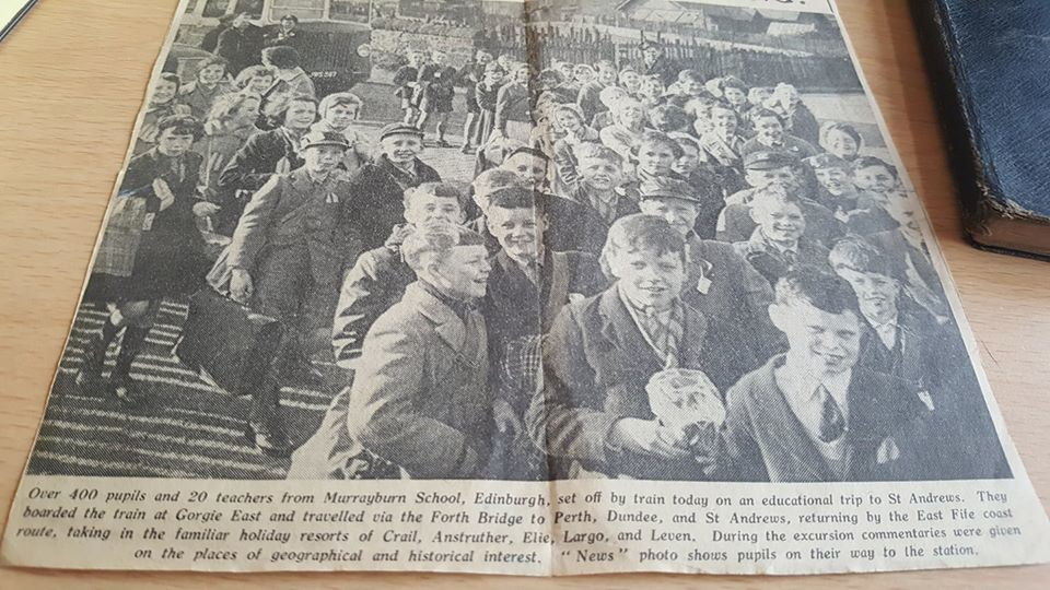 Murrayburn Primary School  - St Andrews Day 21st March Trip 1961
