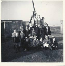 Life in the old P.O.W.Camp off the Old Calder Road Sighthill