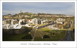Scottish Parliament from Salisbury Crags