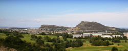 A view to Arthur's Seat and The Crags.