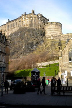Half moon, Edinburgh Castle