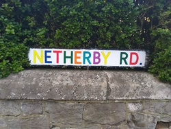 Netherby Road Sign