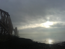 Misty light on Forth Bridge
