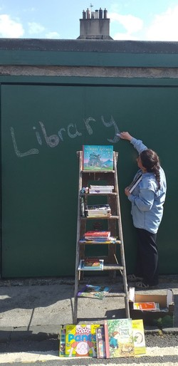 Pop-up library, Summerfield Place