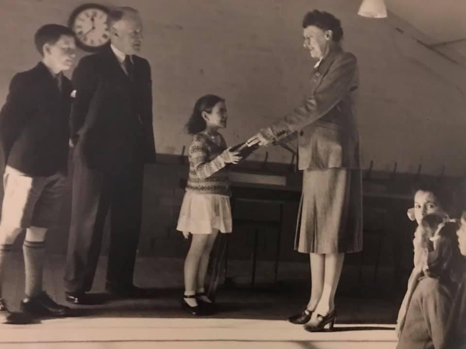 Murrayburn Primary School -Miss Camerons Retiral Presentation circa 1949