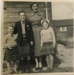 The Kennedy Family - Old P.O.W. Camp off the Old Calder Road  Sighthill 1954