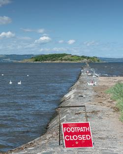 Cramond Island in lock down