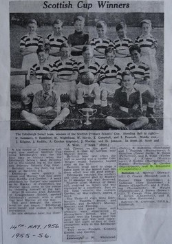 Edinburgh Primary School Football Team - Scottish Cup Winners 1955/6