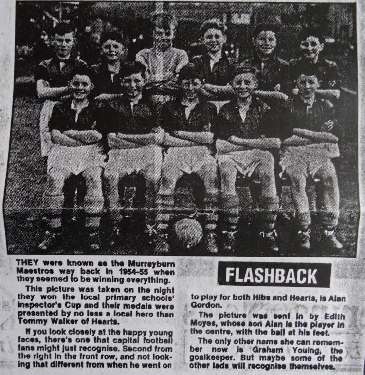 Murrayburn Primary School Football Team Inspectors Cup Winners 1956
