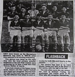 Murrayburn Primary School Football Team Inspectors Cup Winners 1956