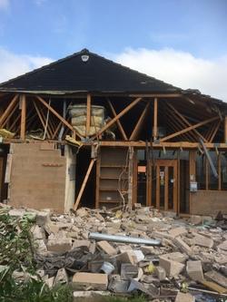 Demolition of Oxgangs Surgery.