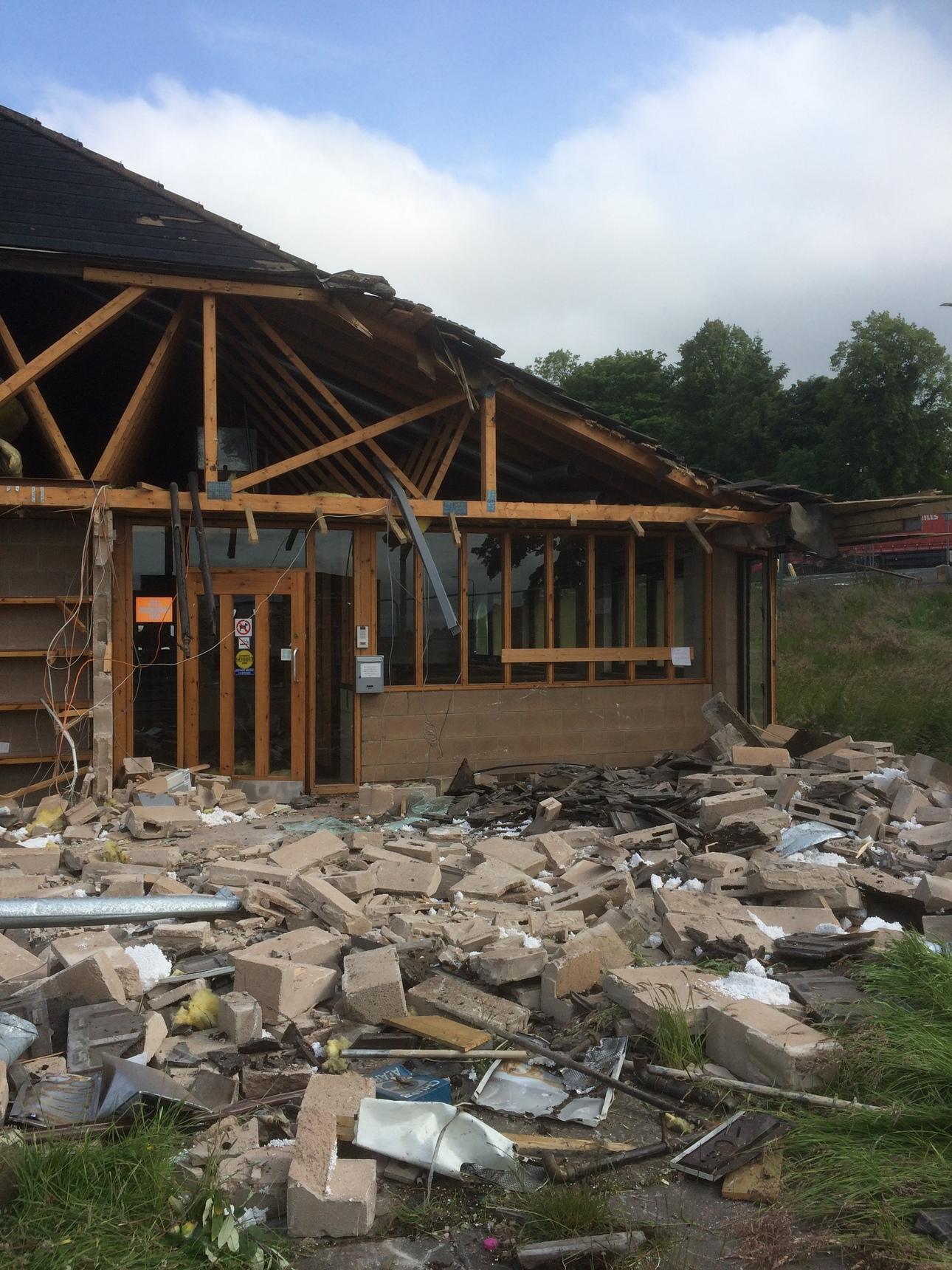 Oxgangs Path Surgery being demolished