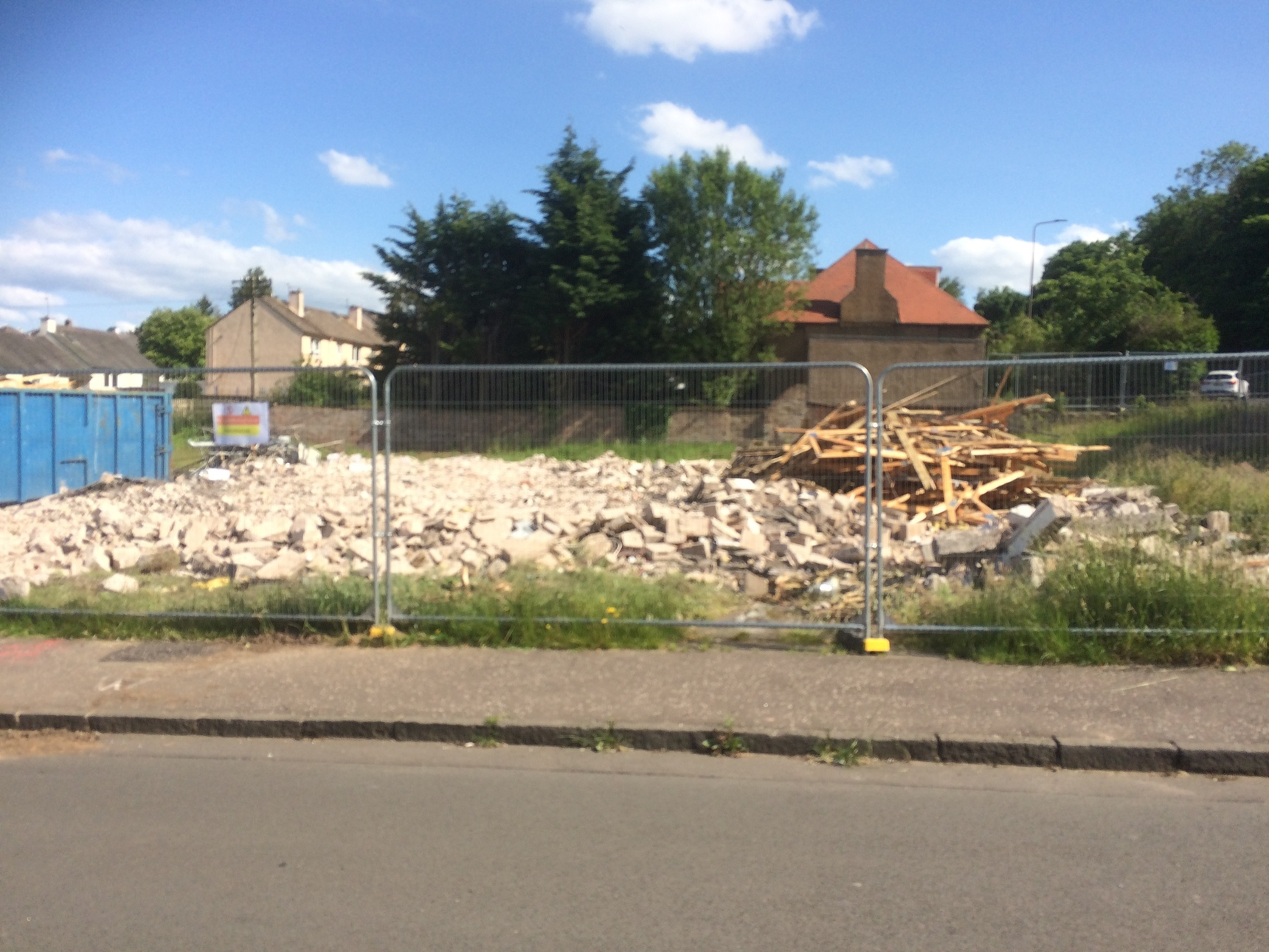 Demolition of Oxgangs Path Surgery