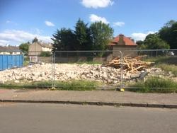 Demolition of Oxgangs Path Surgery