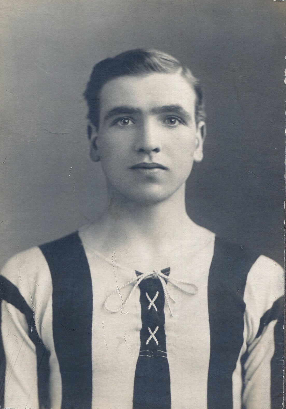 John Fleming Fisherrow lad in his Newcastle United Strip played 1912 - 1913