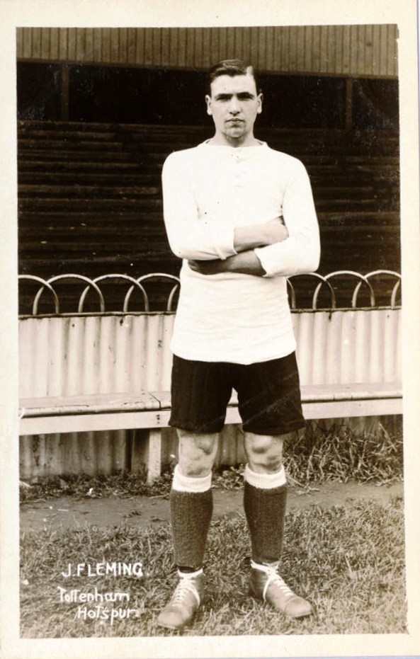 John Fleming a Fisherrow lad in his Tottenham Hotspur strip 1913 - 1915