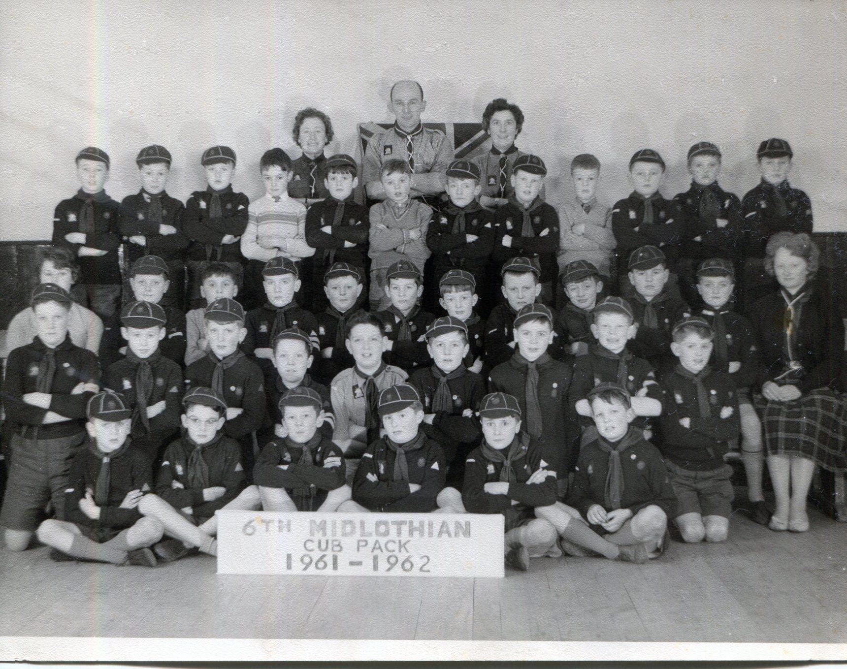 The 6th Midlothian Cub Pack 1961 - 1962
