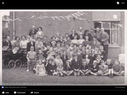 Coronation Street Party  on Sighthill View 1953