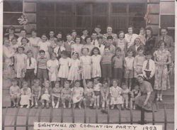 Coronation Street Party on Sighthill Road 1953