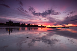 Sunset at Portobello Beach