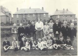 Coronation Street Party  on Parkhead Gardens 1953