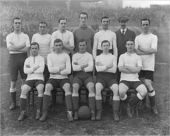 John Fleming a Fisherrow lad in Tottenham Hotspur team 1913 - 1914