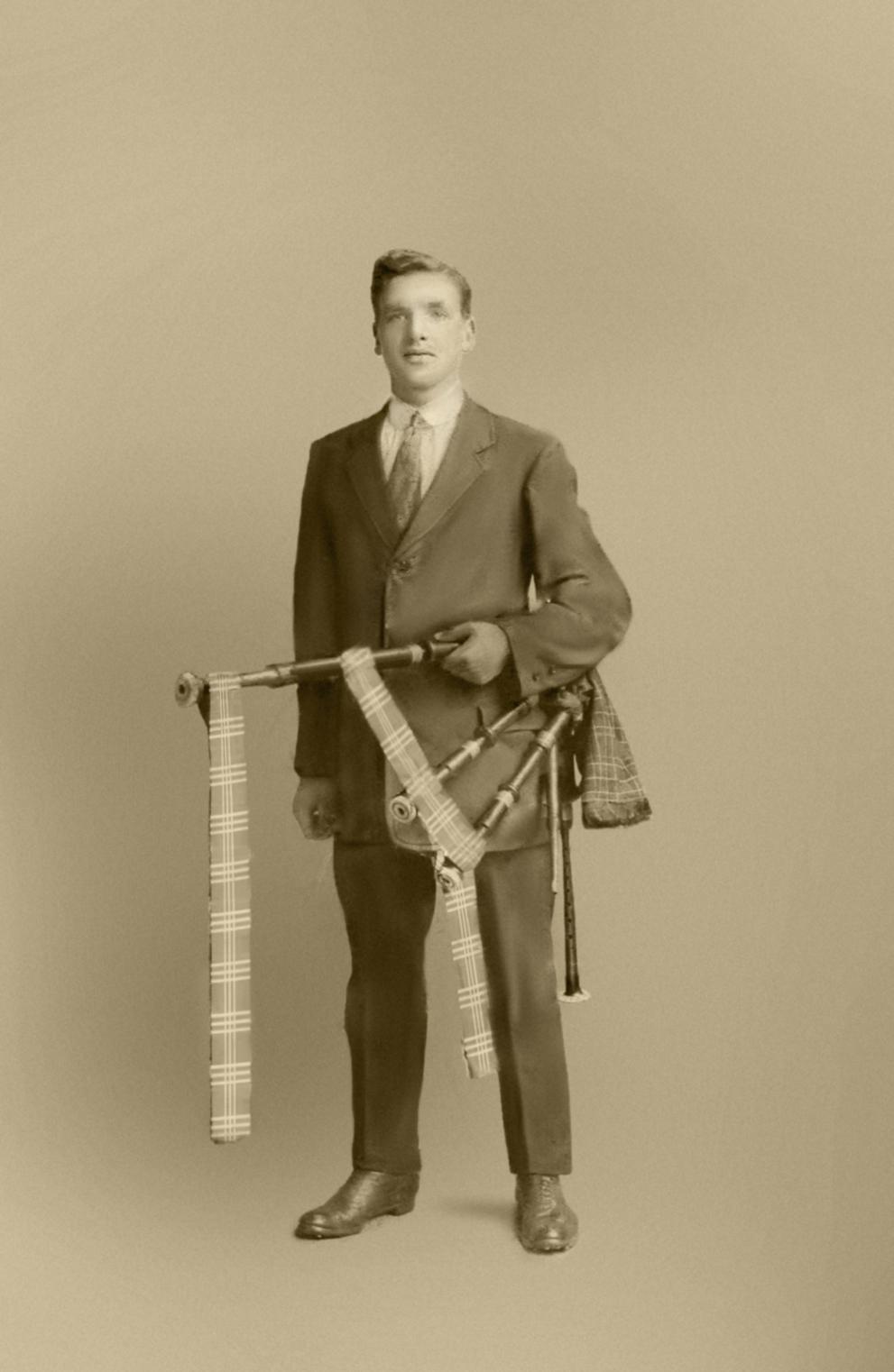 John Fleming professional footballer studio portrait 1912