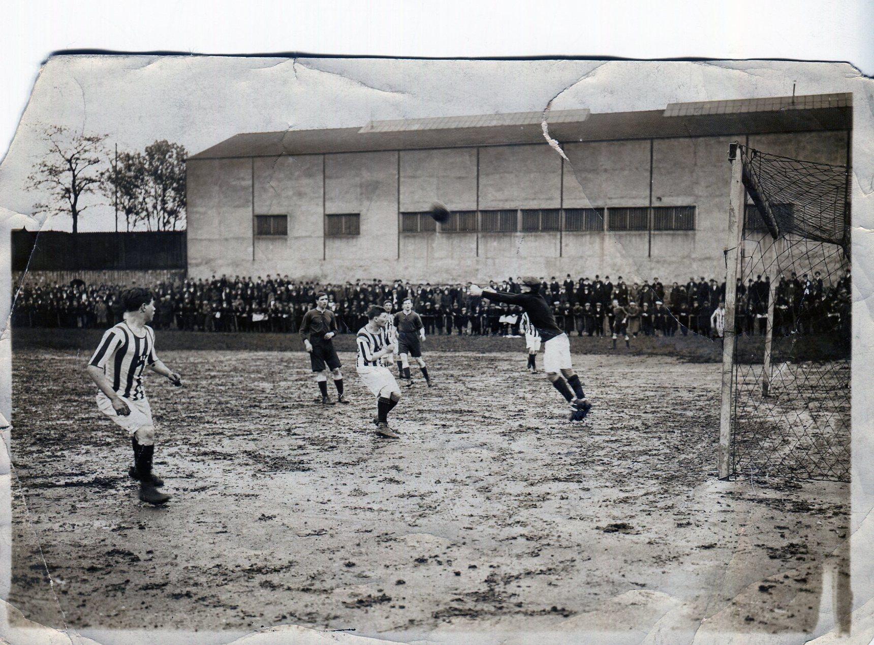 John Fleming playing for Spurs 1913 Paris