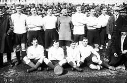 John Fleming footballer from Fisherrow with Spurs Paris 1913