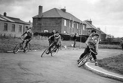 Sighthill Cycle Track in the 1960s