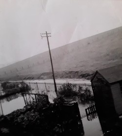 Flooding on the Sighthill estate in the 1950s