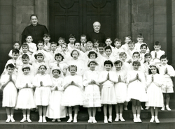 Group Of Children On Their Confirmation c.1958