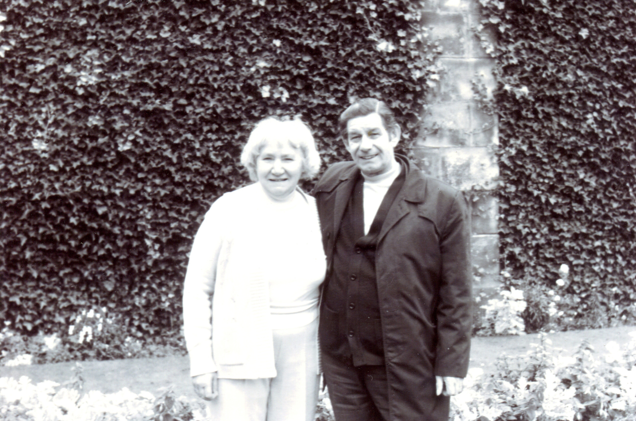 Couple On Day Out In Gardens 1980s