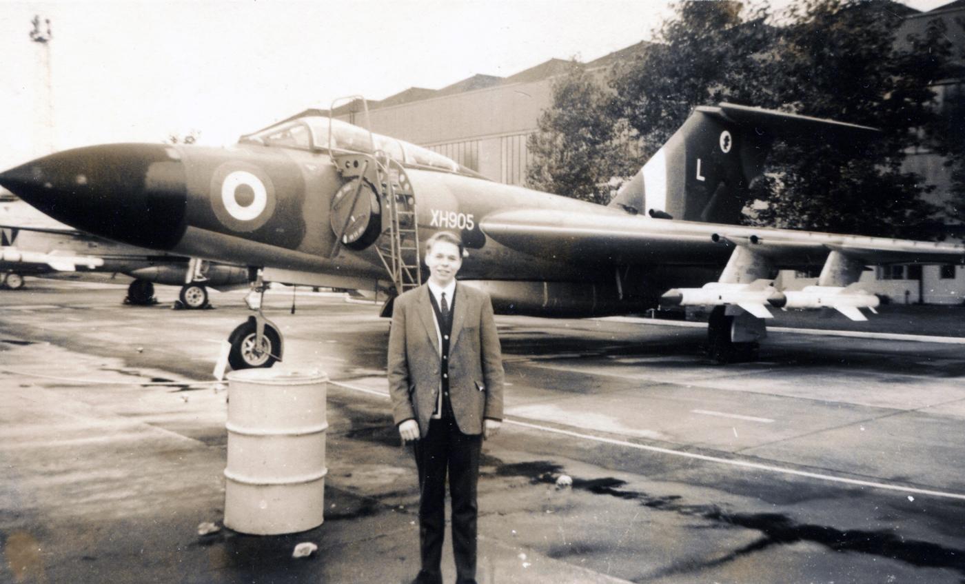 School Pupil Visiting RAF Airbase c.1967