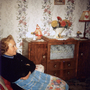 Woman Sitting By Sideboard In Living Room Of Her Canongate Home c.1962