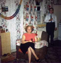Mother And Son Celebrating Christmas At Their Canongate Home c.1962