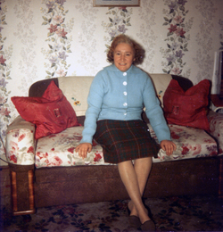 Woman Sitting On Sofa At Her Canongate Home c.1962
