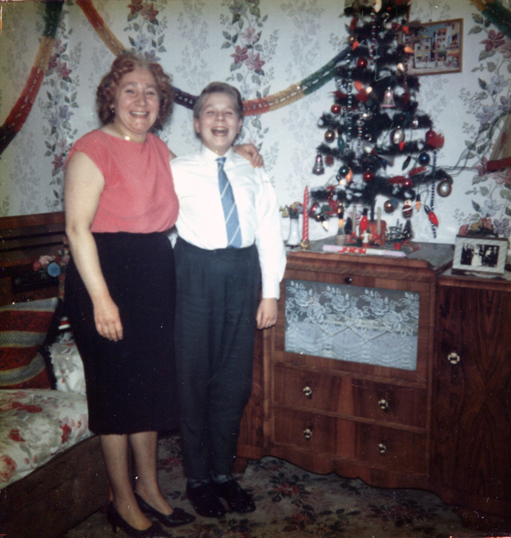 Mother And Son Celebrating Christmas At Their Home In The Canongate c.1962