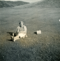 Woman Taking Tortoise On Trip To Holyrood Park c.1965