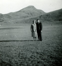 Couple Out For Walk In Holyrood Park c.1965