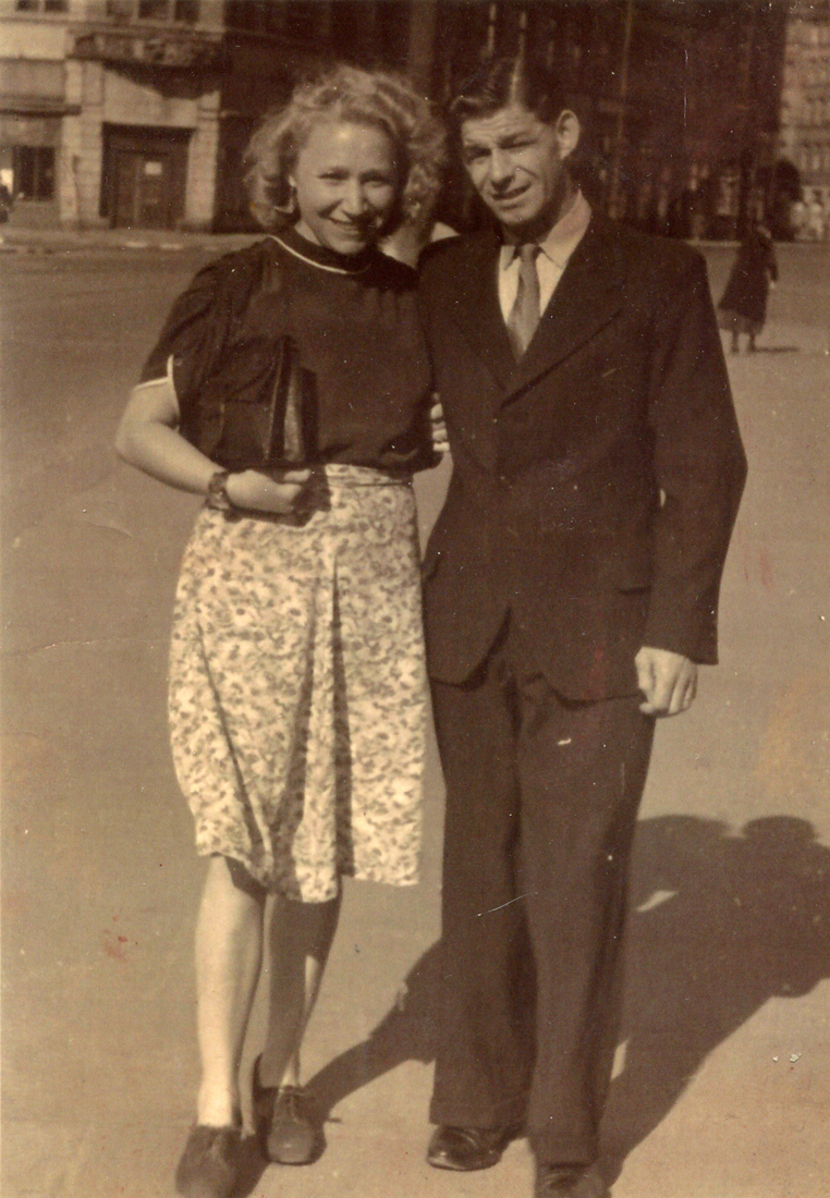 Young Couple Out In Town c.1949