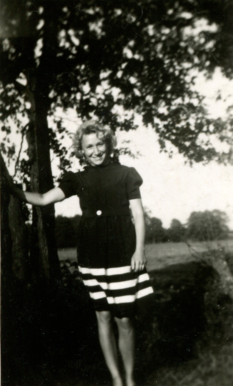 Woman Standing Under Tree c.1947