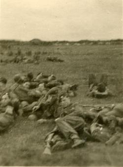 RAF Servicemen Taking A Rest c.1945