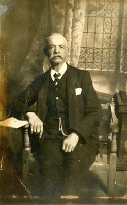Studio Portrait Gentleman Sitting On Chair 1920s