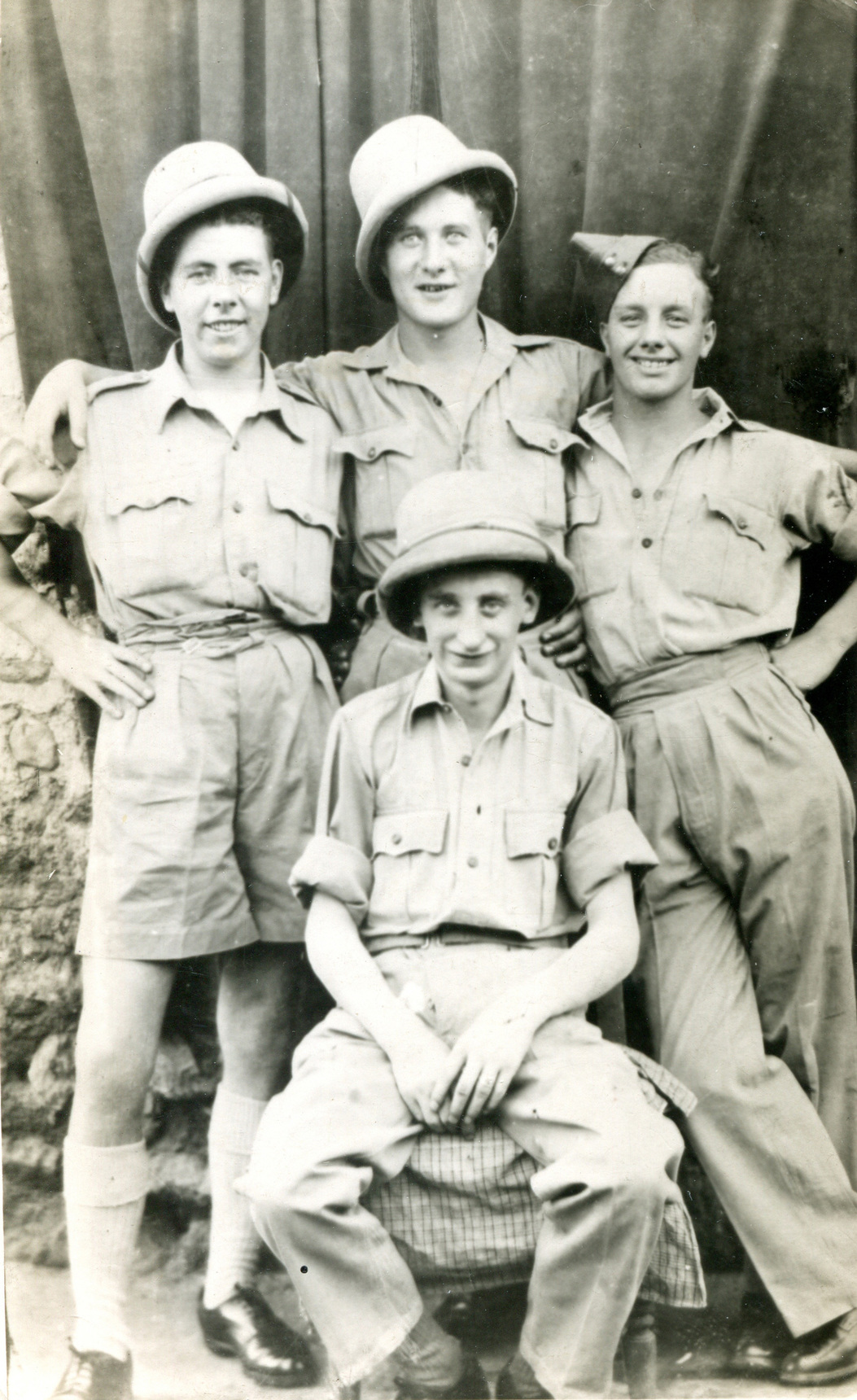 Quartet Of Young Soldiers Larking About c.1944