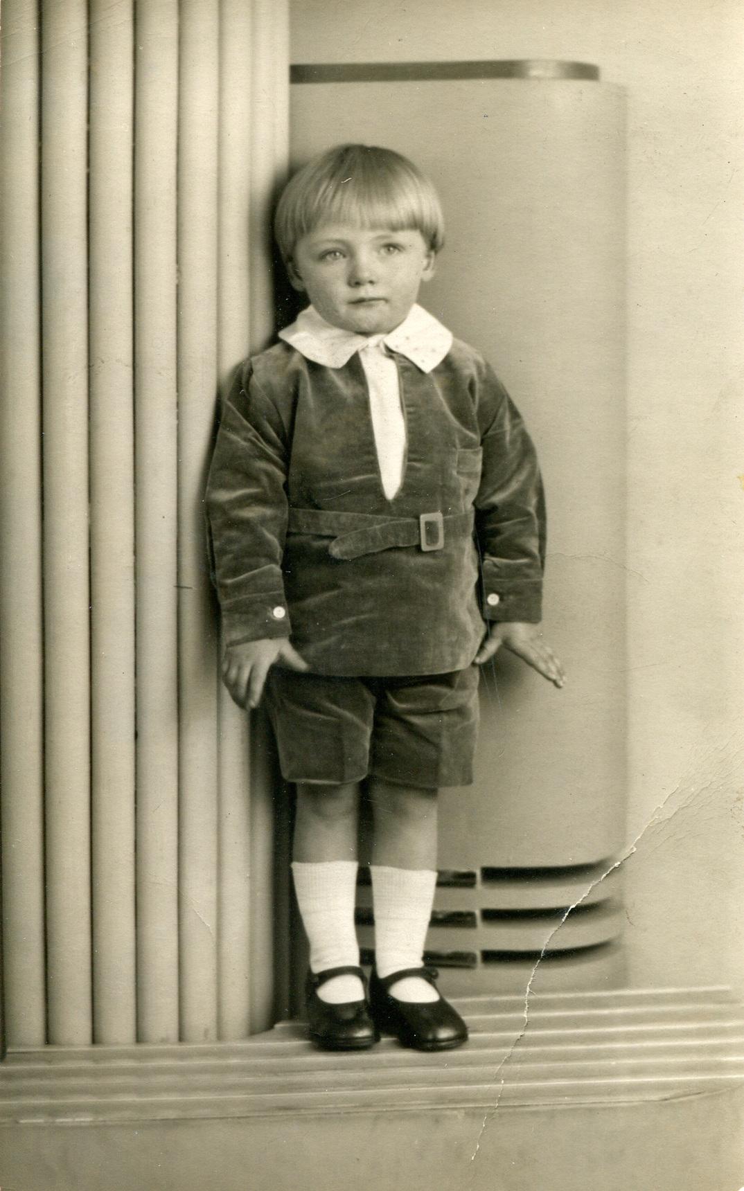 Studio Portrait Young Boy c.1935